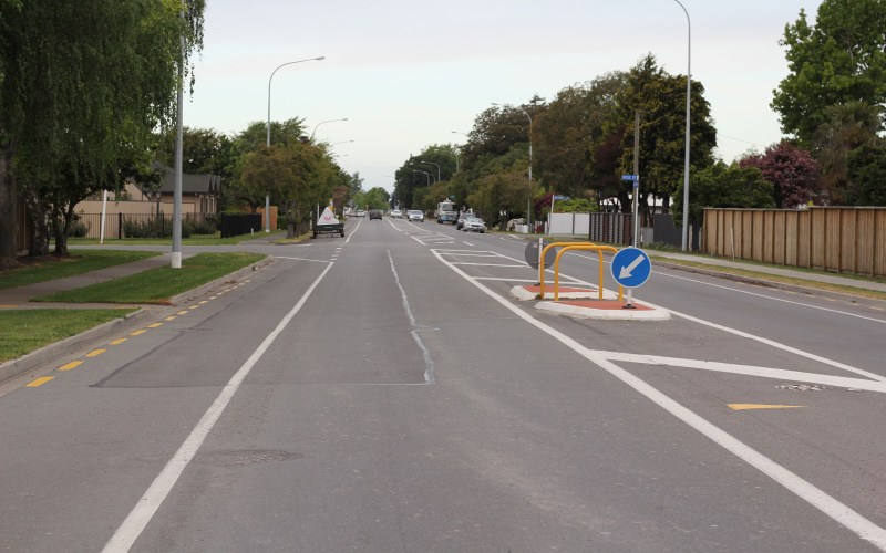 Image of street with no cycle lane